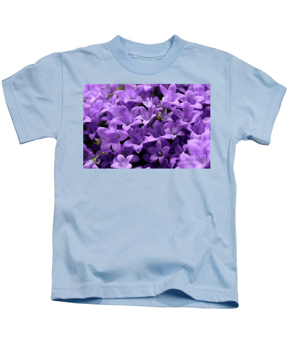 Horizontal Kids T-Shirt featuring the photograph Violet Dream Iv by Stefania Levi