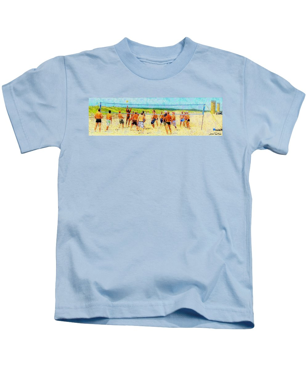 Male Kids T-Shirt featuring the photograph Volleyball At Gordons Pond by Jeffrey Todd Moore