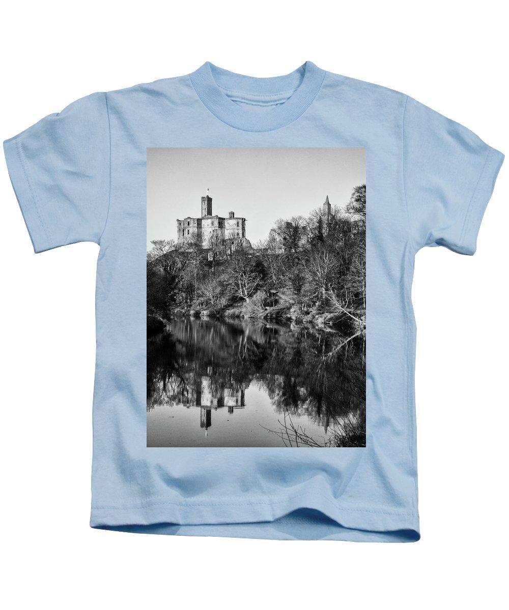 Castle Kids T-Shirt featuring the photograph Warkworth Castle by Paul Cullen