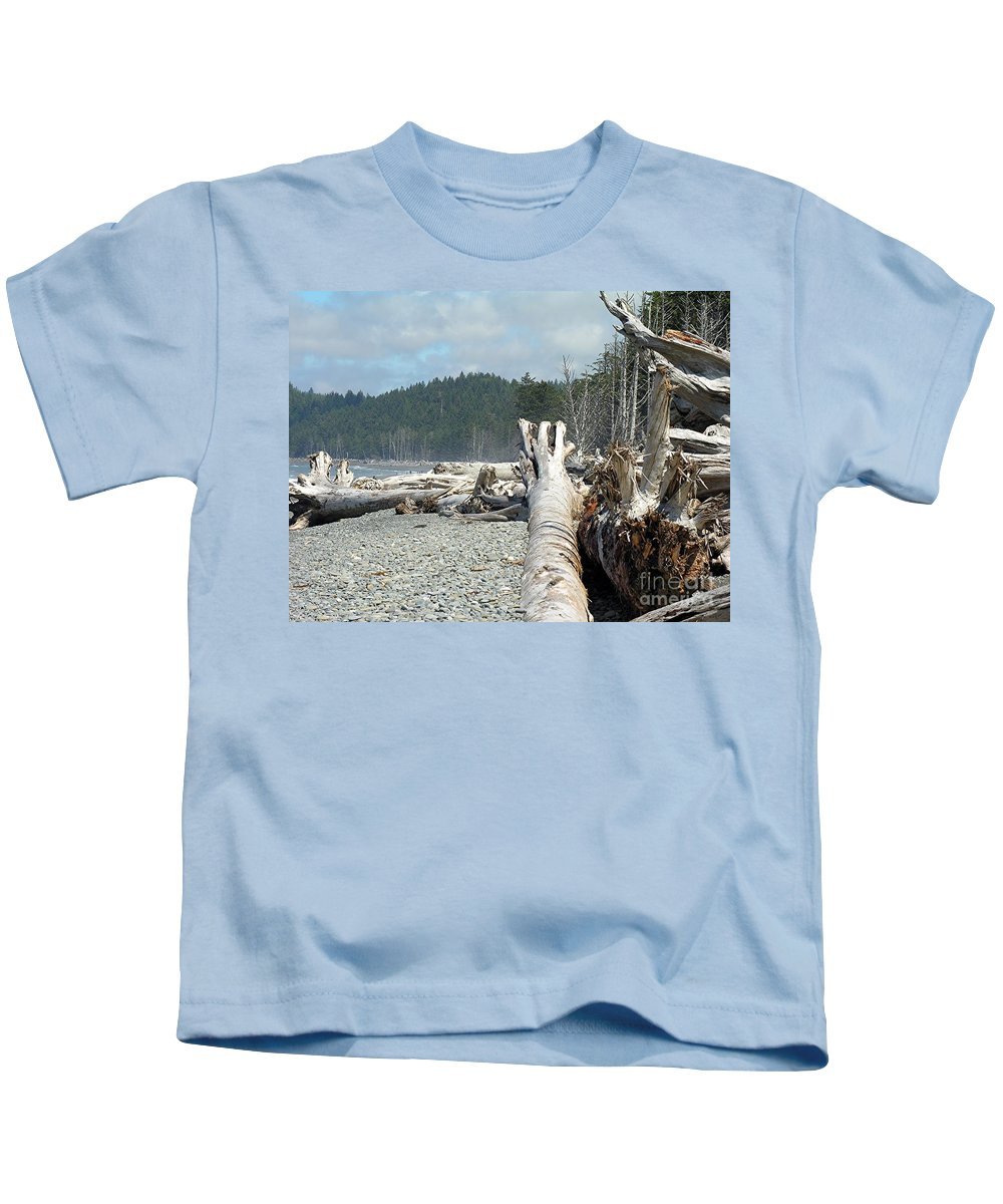 Tree Kids T-Shirt featuring the photograph Washington Beach by Diane Greco-Lesser