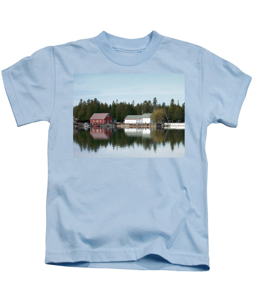 Washington Island Kids T-Shirt featuring the photograph Washington Island Harbor 7 by Anita Burgermeister