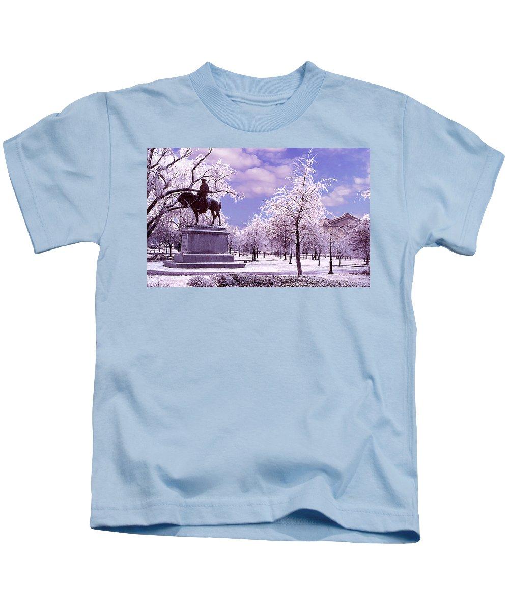 Landscape Kids T-Shirt featuring the photograph Washington Square Park by Steve Karol