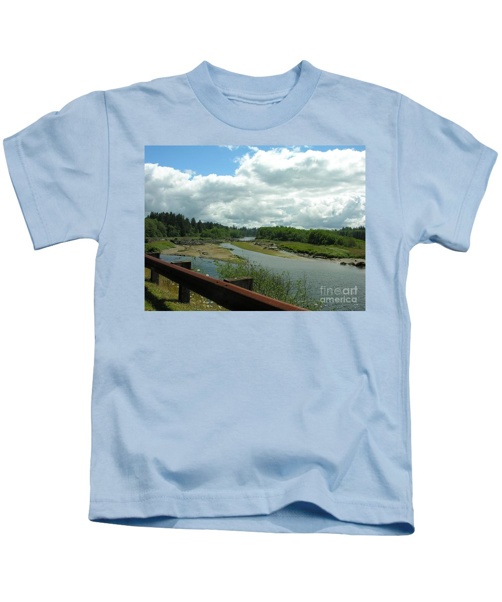 Rail Kids T-Shirt featuring the photograph Washinton Coast 2 by Diane Greco-Lesser