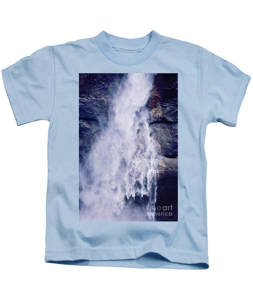 Waterfall Kids T-Shirt featuring the photograph Water Drops by Kathy McClure