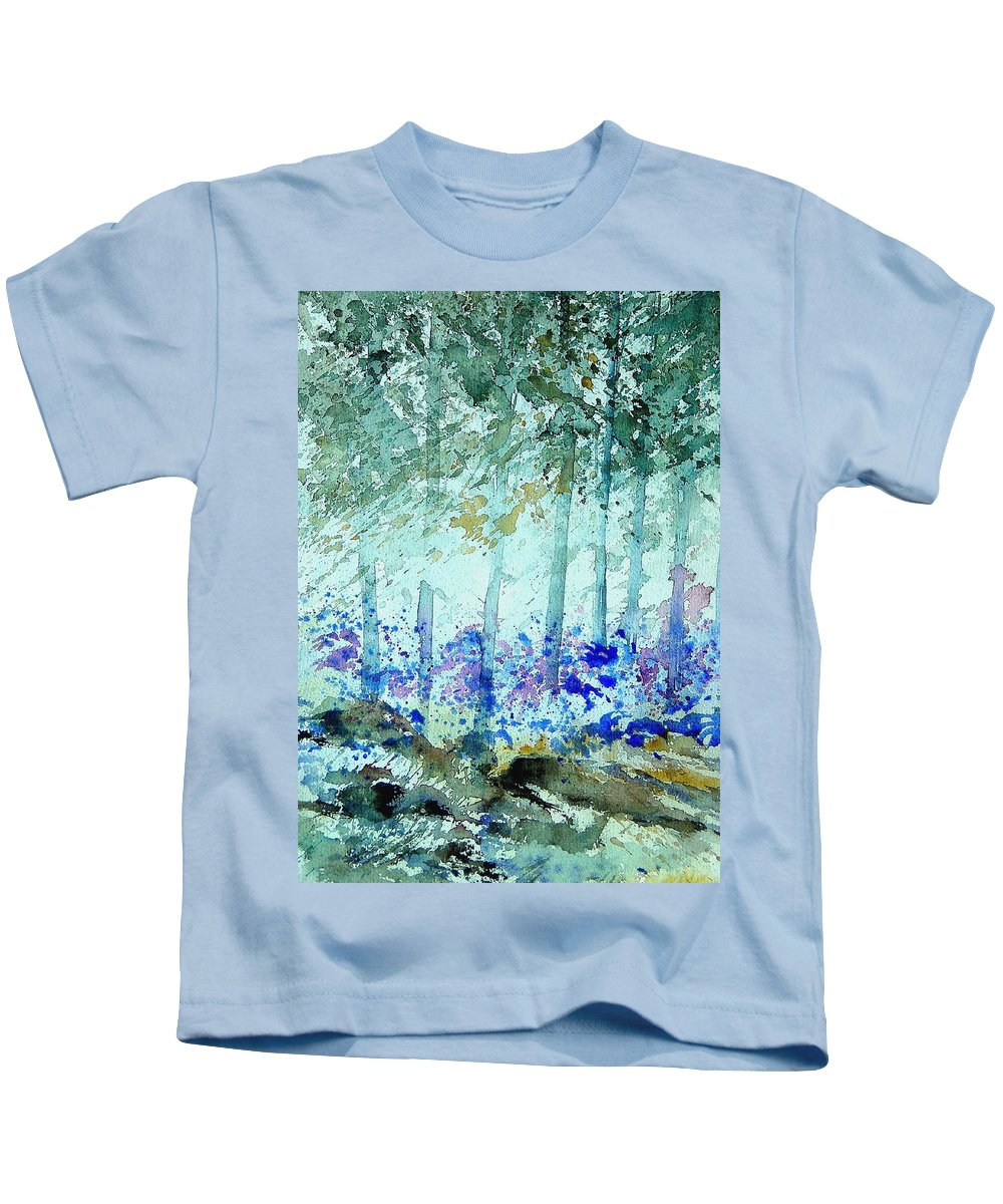 Tree Kids T-Shirt featuring the painting Watercolor 011105 by Pol Ledent