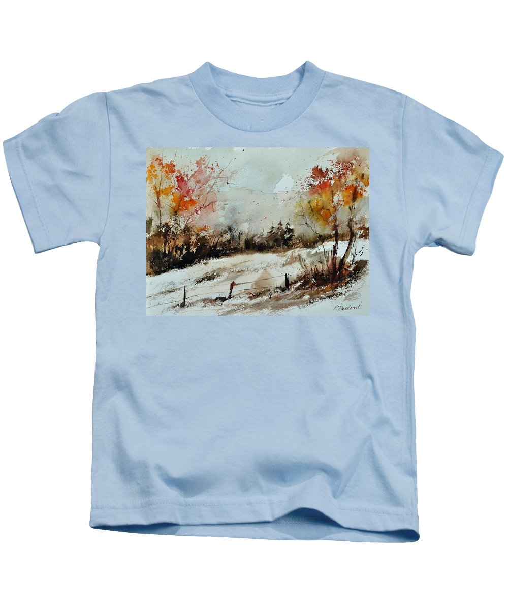 Kids T-Shirt featuring the painting Watercolor 018090 by Pol Ledent