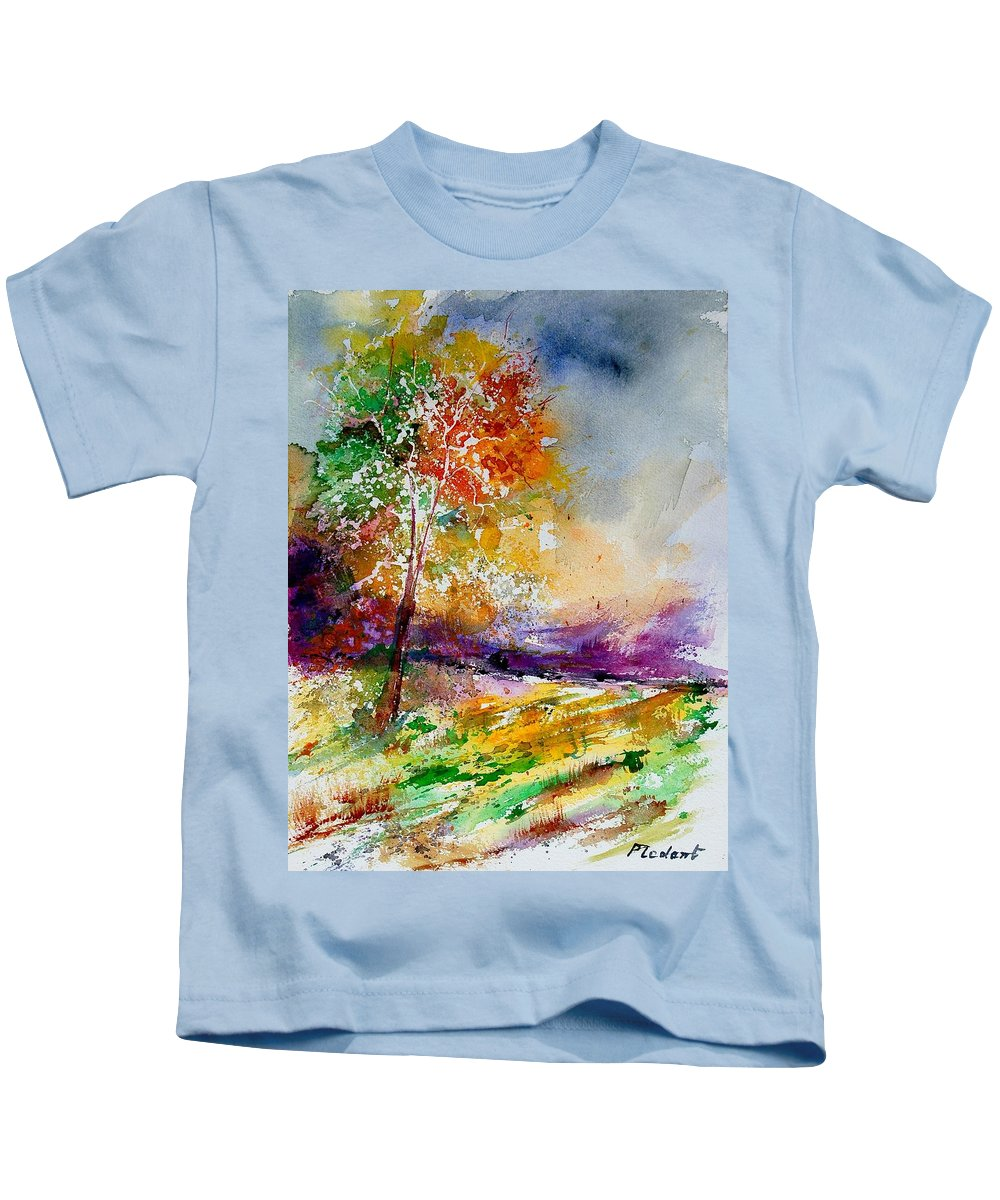 Spring Kids T-Shirt featuring the painting Watercolor 100507 by Pol Ledent