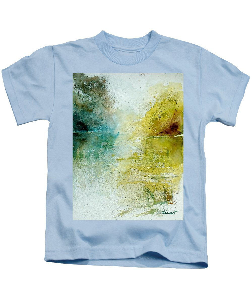 Water Kids T-Shirt featuring the painting Watercolor 111207 by Pol Ledent