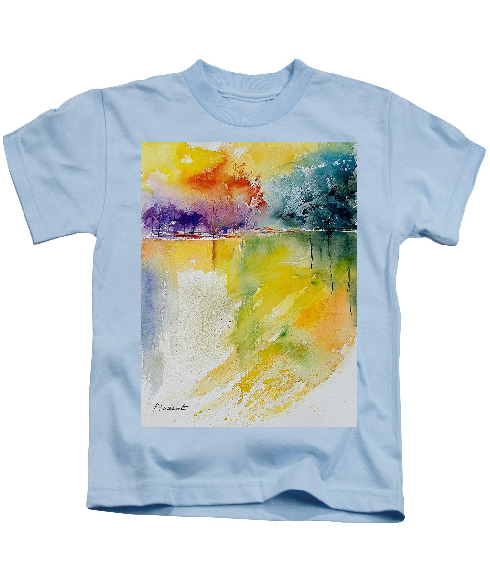 Water Kids T-Shirt featuring the painting Watercolor 241008 by Pol Ledent