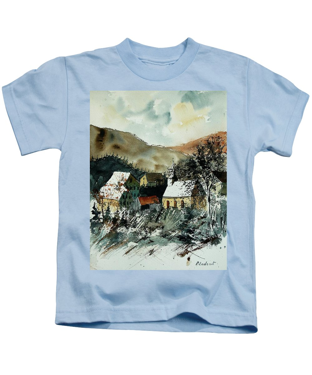 Winter Kids T-Shirt featuring the painting Watercolor 260107 by Pol Ledent