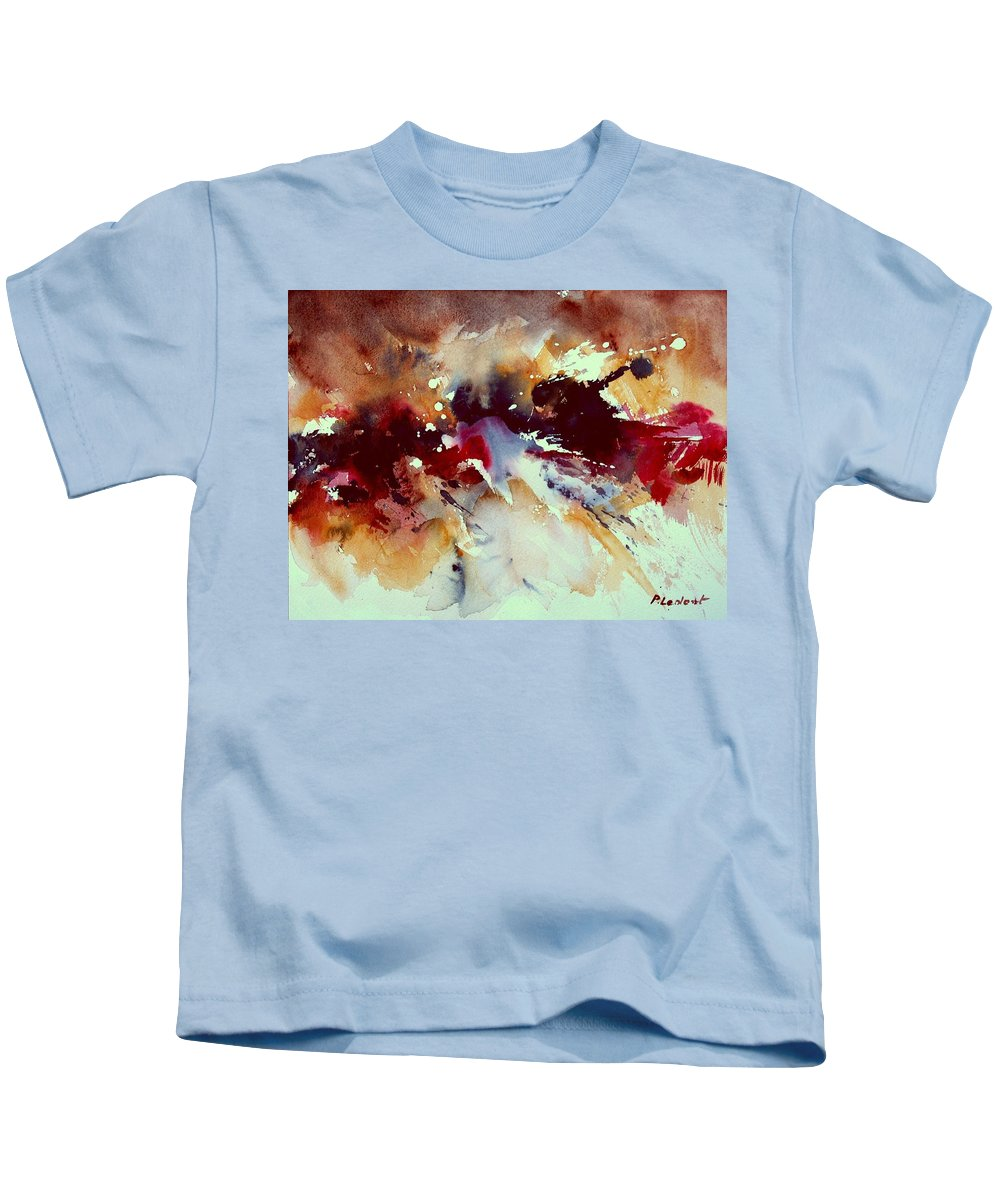 Abstract Kids T-Shirt featuring the painting Watercolor 301107 by Pol Ledent
