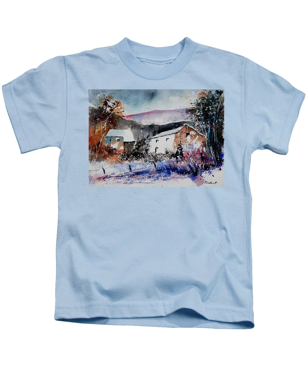 Winter Kids T-Shirt featuring the painting Watercolor 902080 by Pol Ledent
