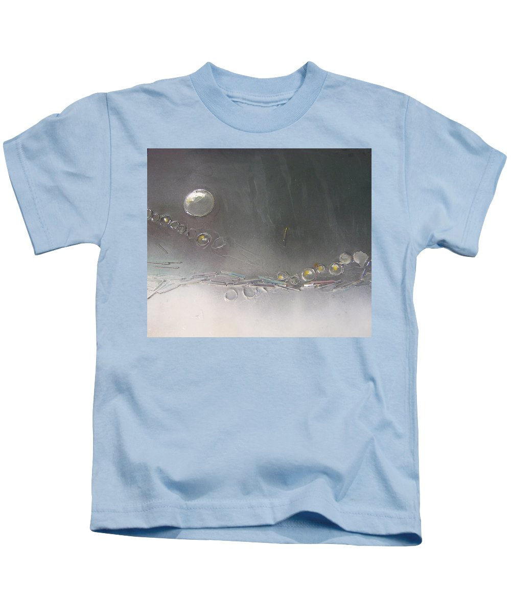 Canvas Kids T-Shirt featuring the painting Waters Edge by Leah Hicks