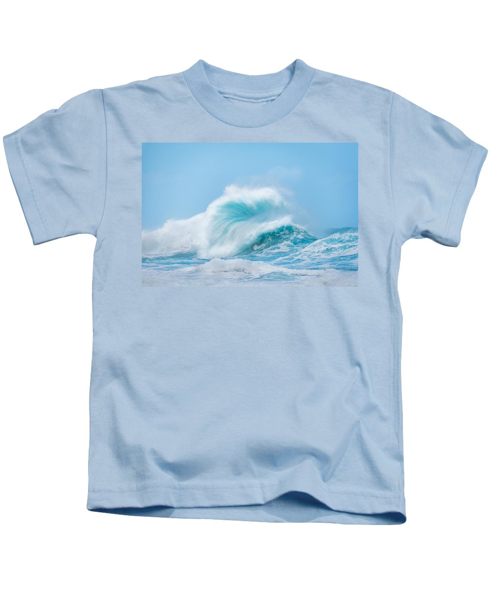 Wave Kids T-Shirt featuring the photograph Wave #1 by Tex Wantsmore