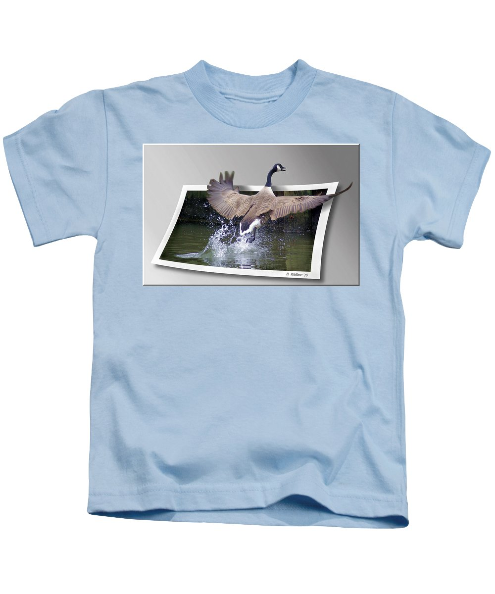 2d Kids T-Shirt featuring the photograph We Have Liftoff by Brian Wallace