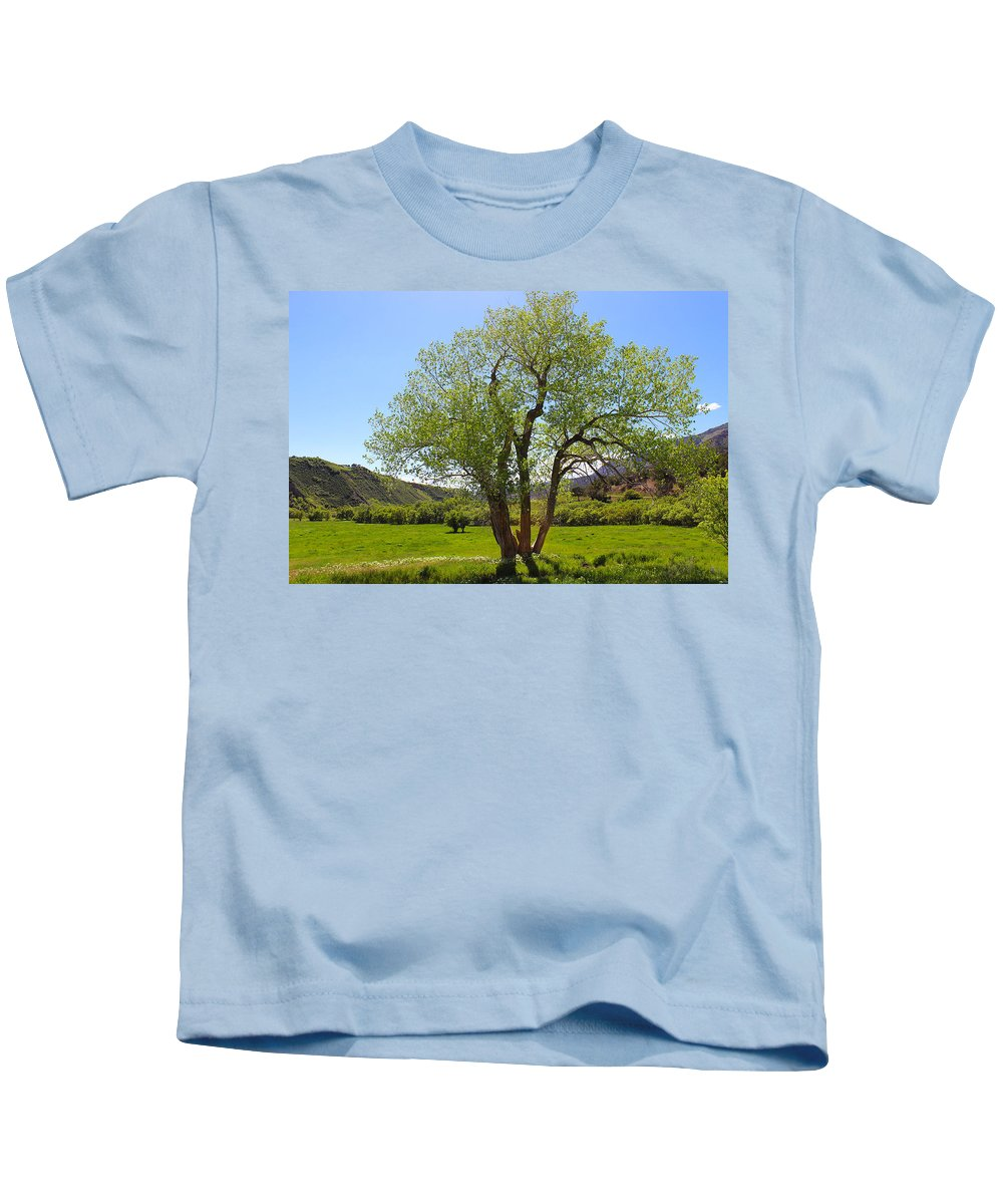 Tree Kids T-Shirt featuring the photograph We Meet In The Middle by Samantha Burrow