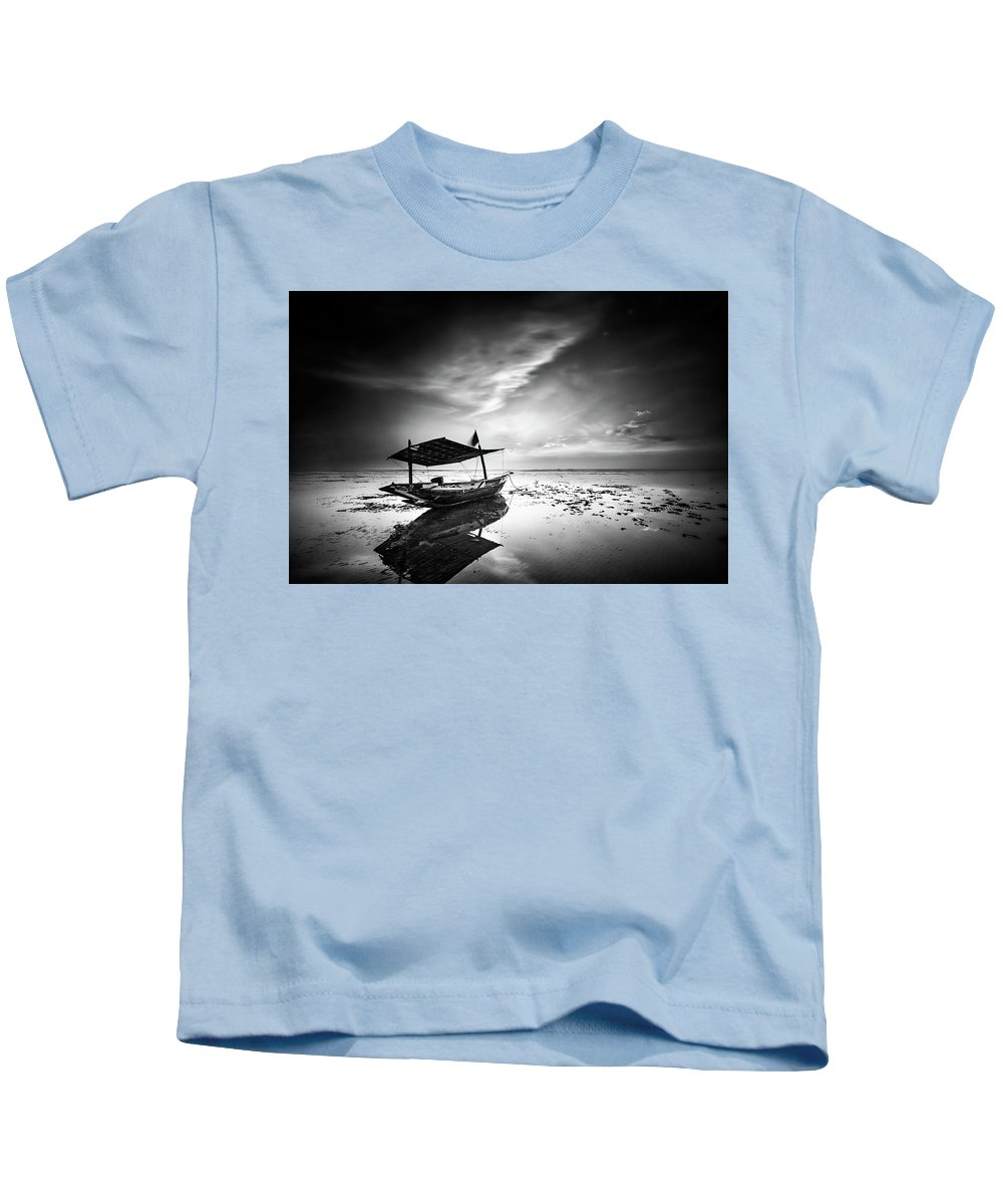 Landscape Kids T-Shirt featuring the photograph Where Does The Seawater by Handik Sudarsana