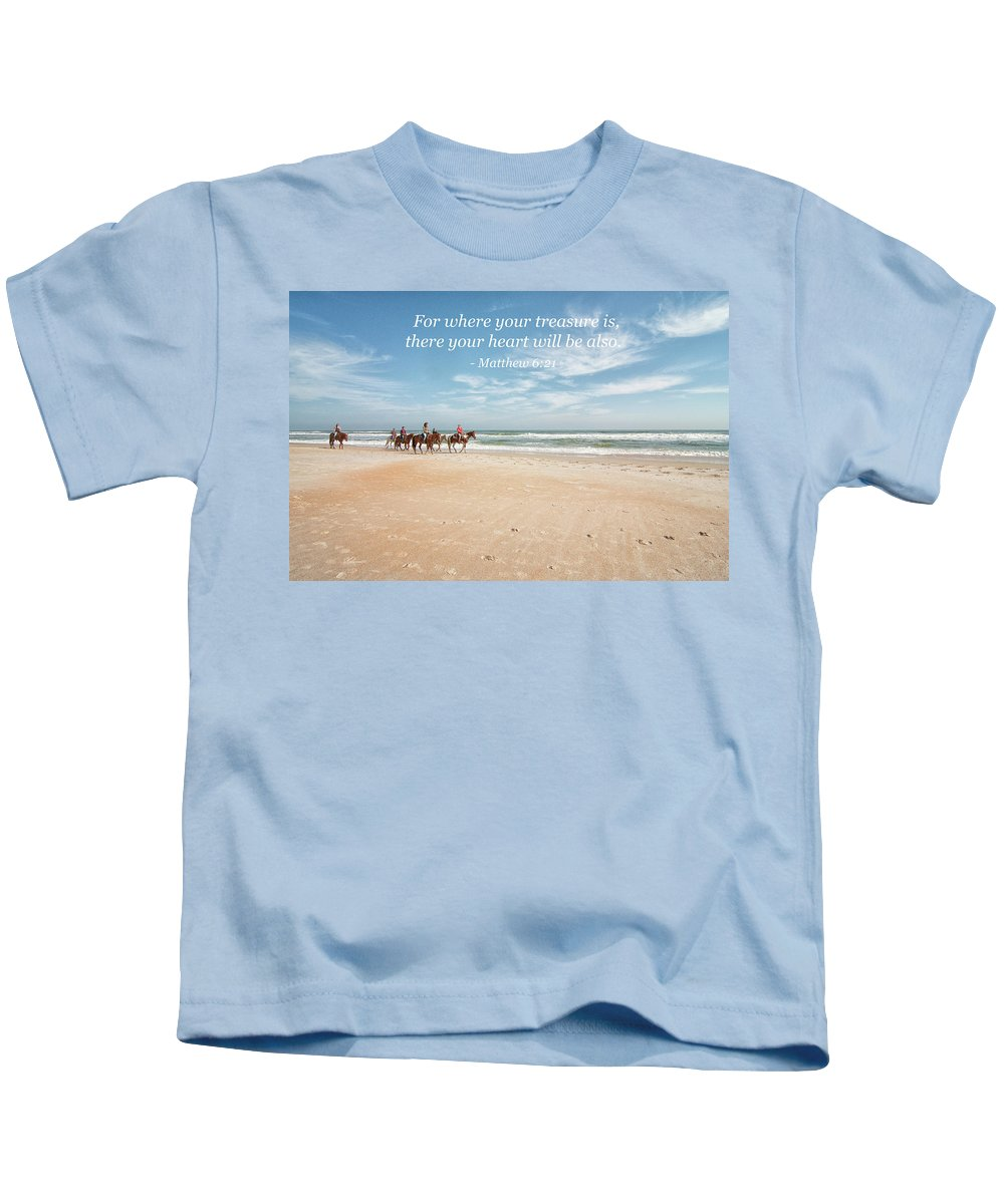 Landscape Kids T-Shirt featuring the photograph Where Your Treasure Is by Kim Warden