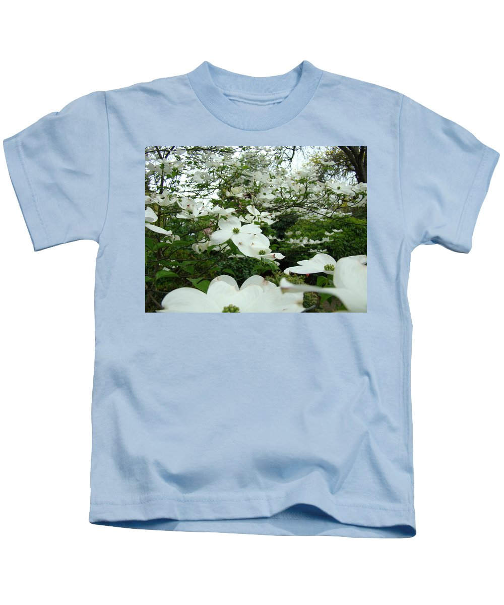 Dogwood Kids T-Shirt featuring the photograph White Dogwood Flowers 6 Dogwood Tree Flowers Art Prints Baslee Troutman by Baslee Troutman