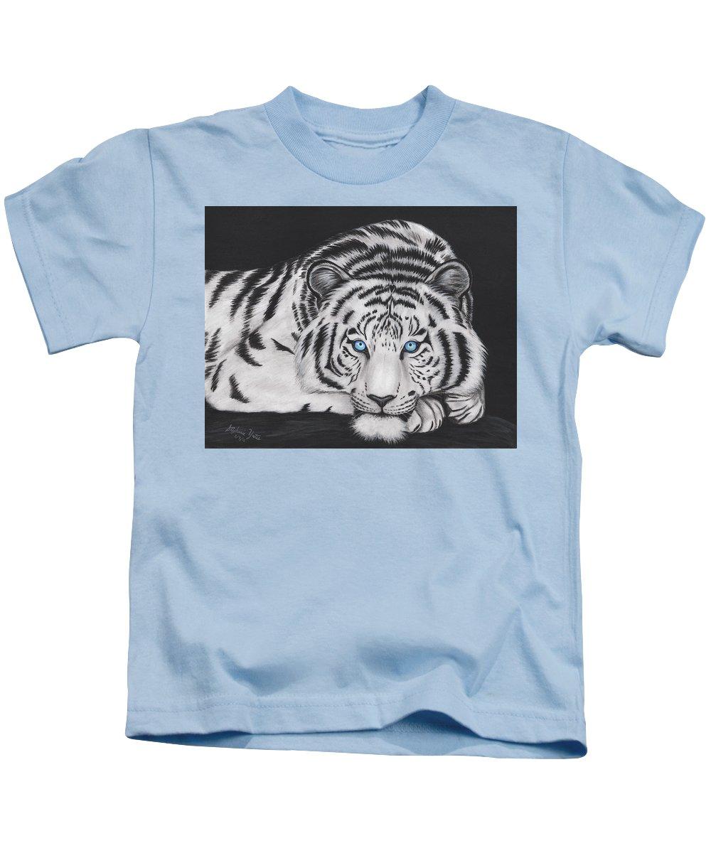 9e05de471a6ec White Tiger Kids T-Shirt for Sale by Stephanie Yates