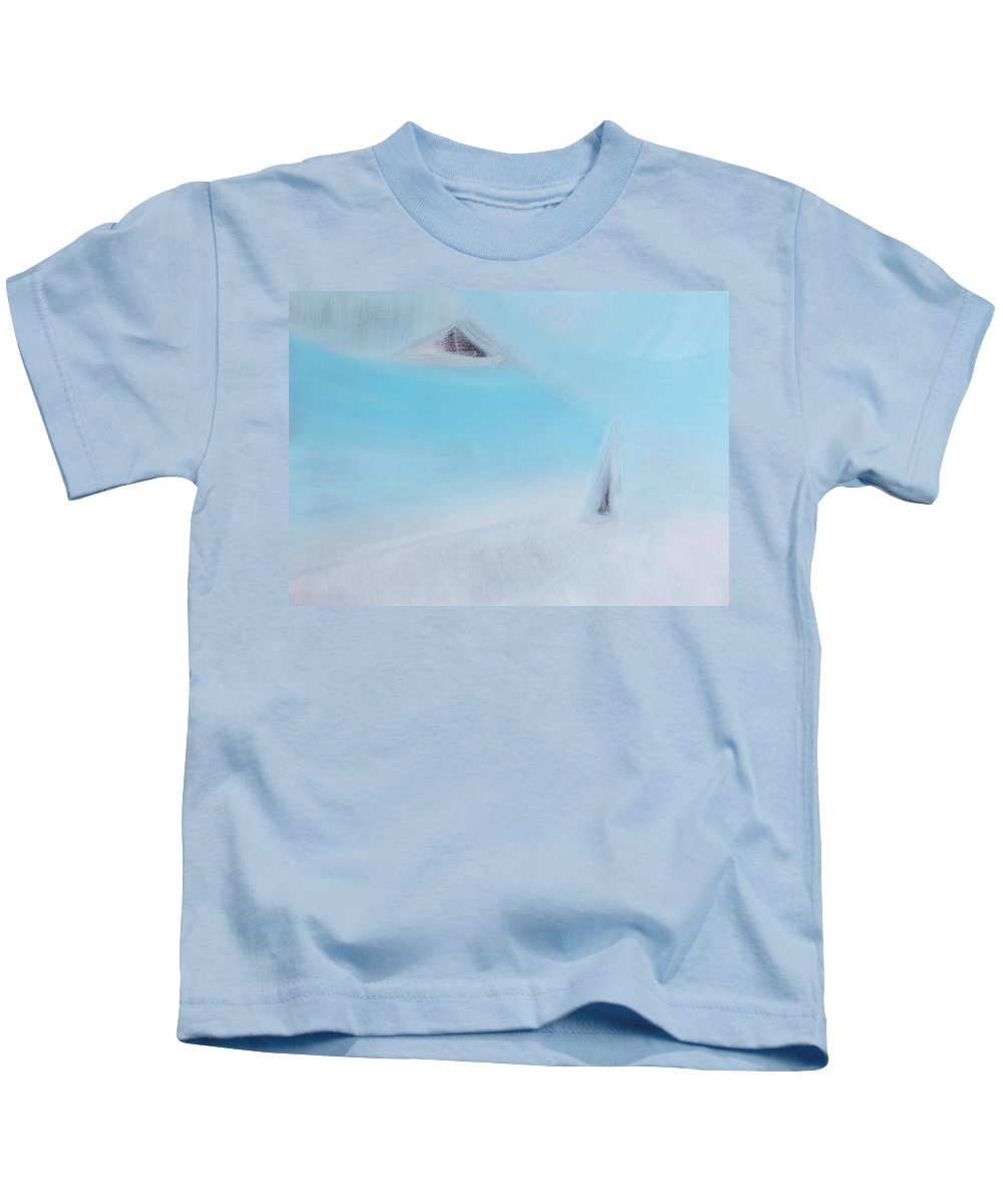 Least Kids T-Shirt featuring the painting Who Consider Themselves To Be The Most Important Person Is The Least Important by Min Zou