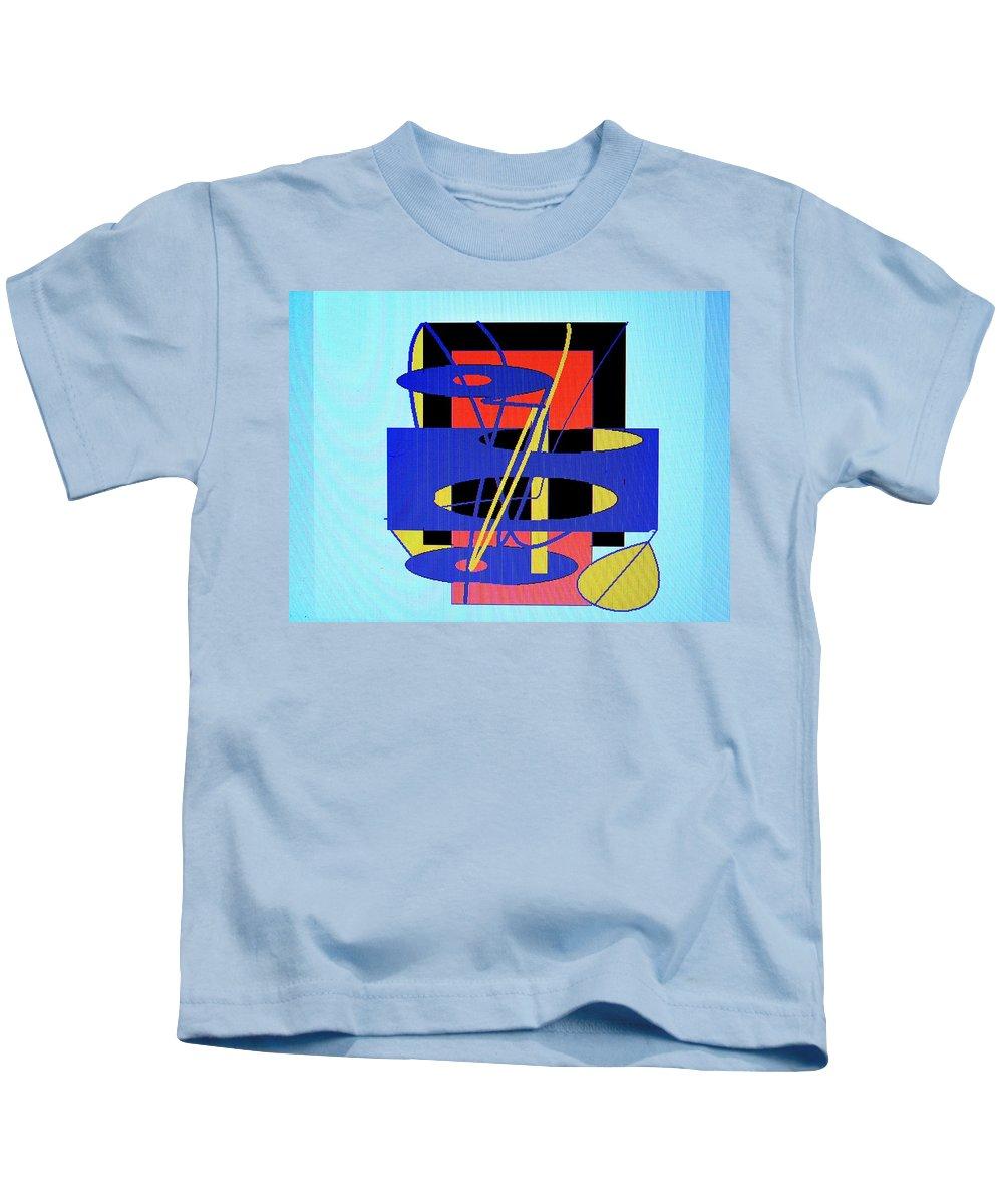 Abstract Kids T-Shirt featuring the digital art Widget World by Ian MacDonald