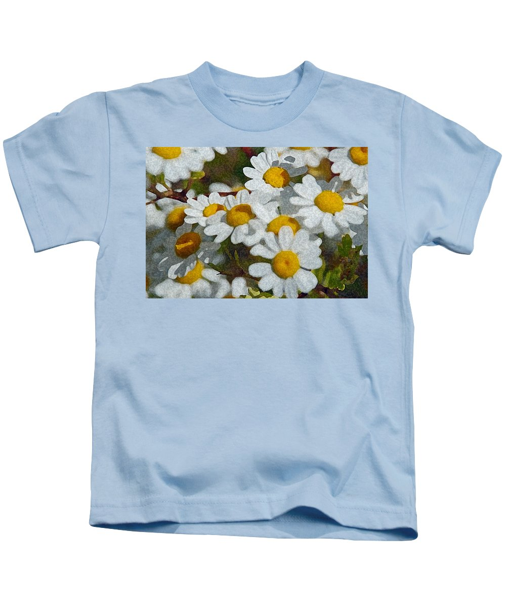Daisies Kids T-Shirt featuring the photograph Wild Daisies II by Carol Eliassen