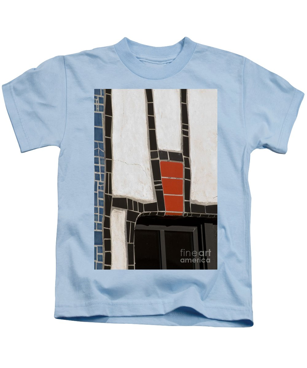 California Scenes Kids T-Shirt featuring the photograph Winery Window Wall Detail by Norman Andrus