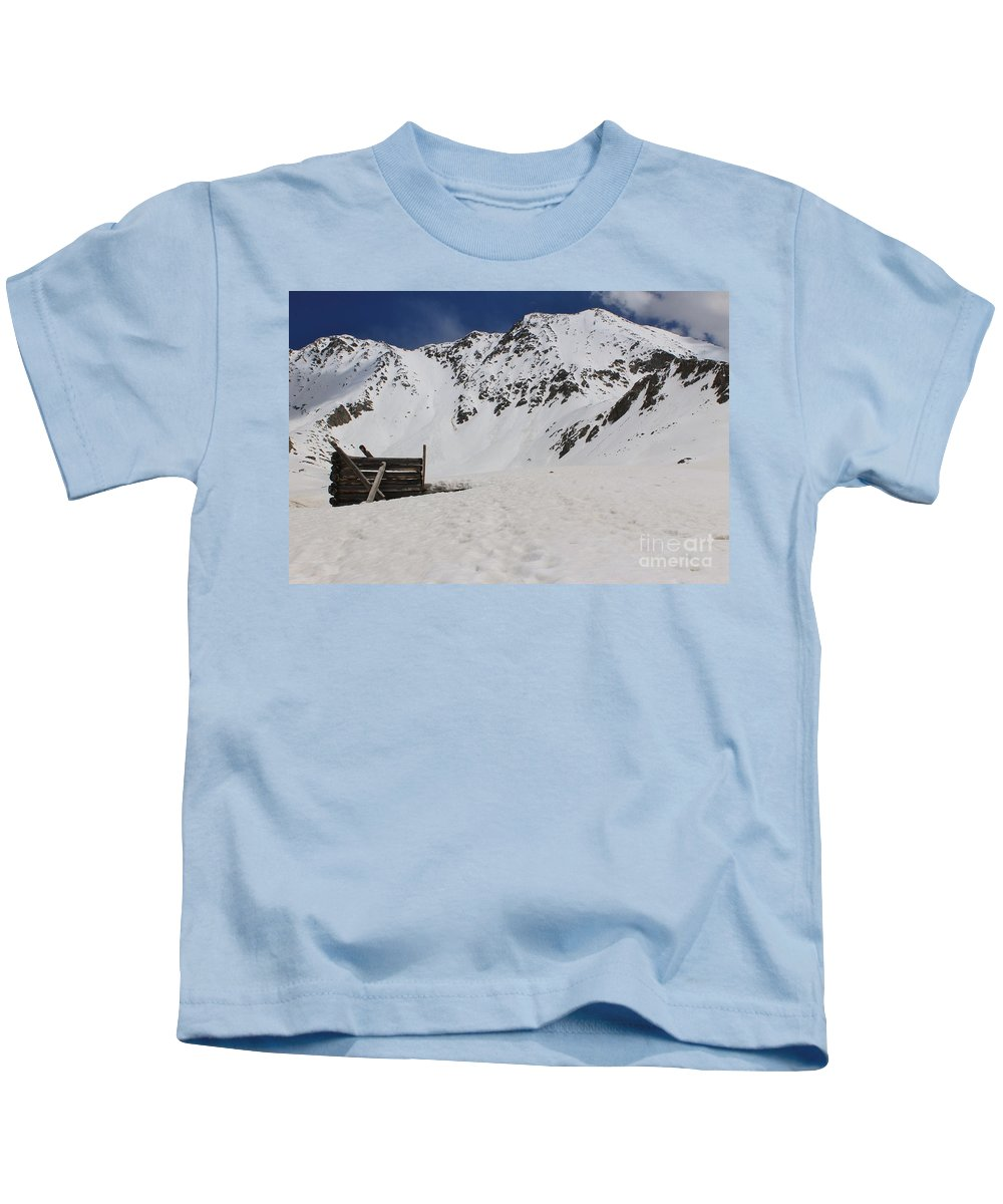 Nature Kids T-Shirt featuring the photograph Winter At The Boston Mine 3 by Tonya Hance