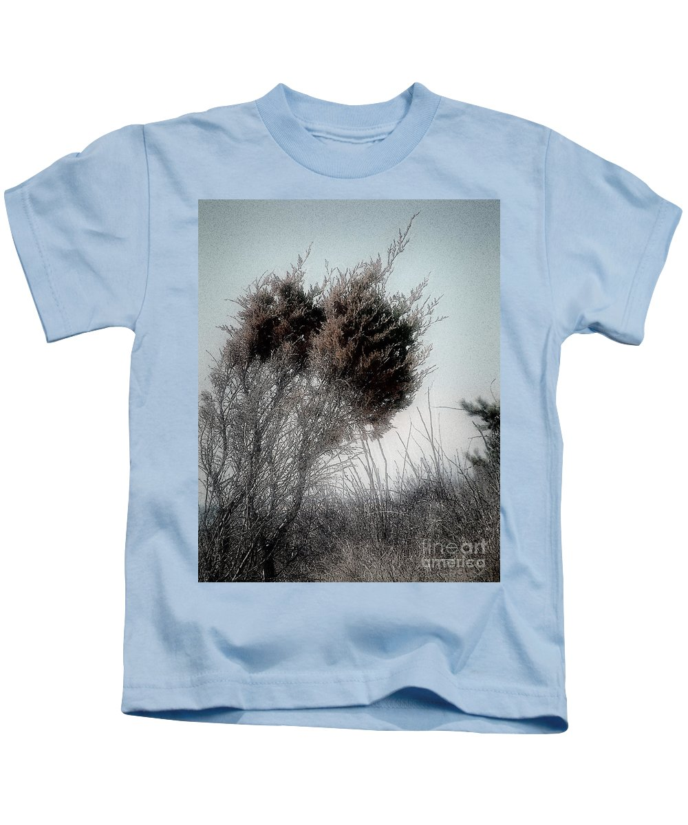 Beach Kids T-Shirt featuring the painting Winter Cedar by RC DeWinter