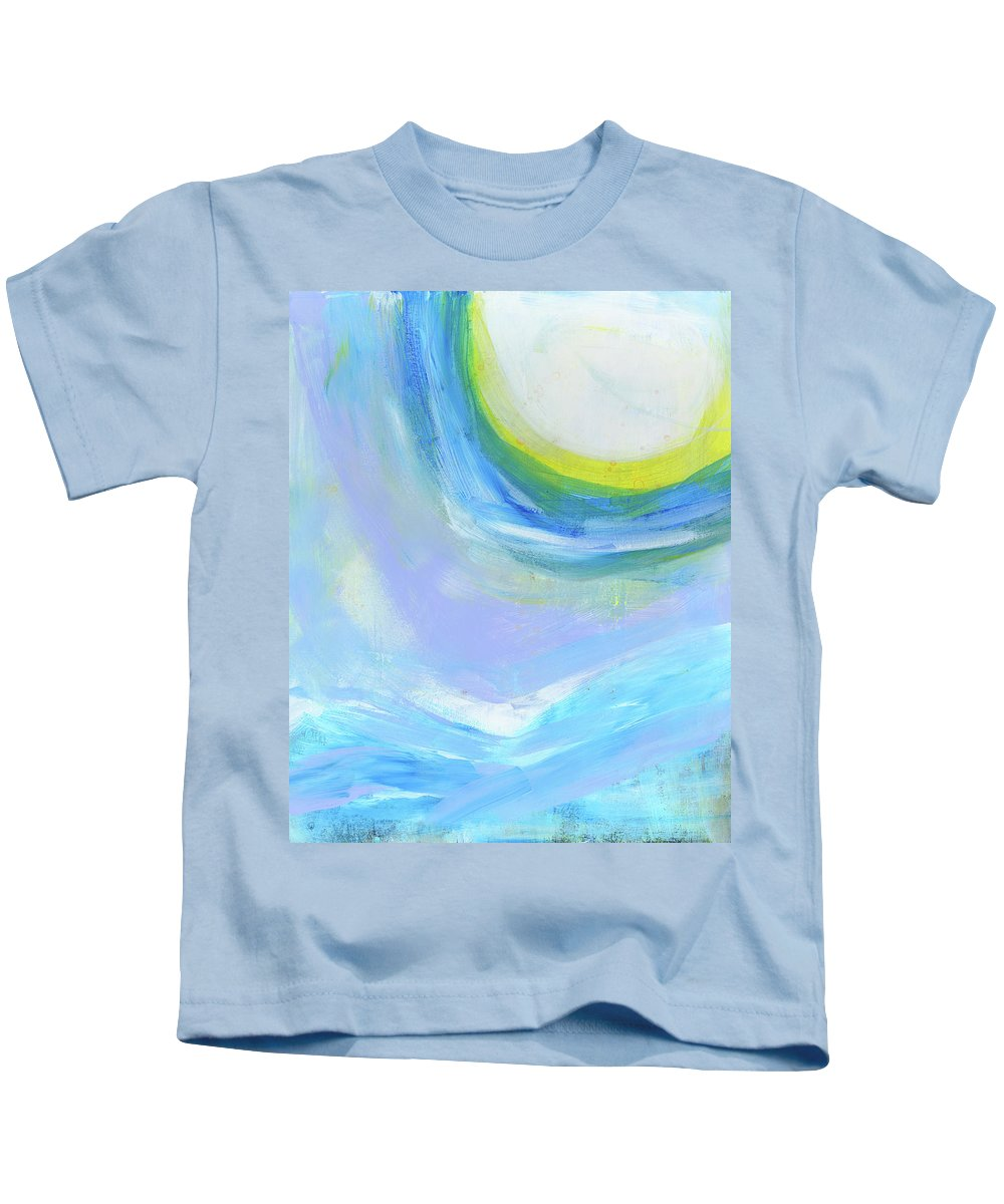 Abstract Kids T-Shirt featuring the painting Winter High by Tonya Doughty