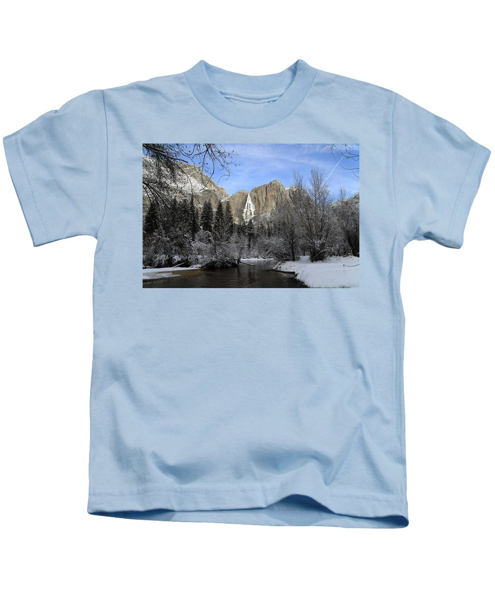 National Park Kids T-Shirt featuring the photograph Winter Of Yosemite by Hyuntae Kim