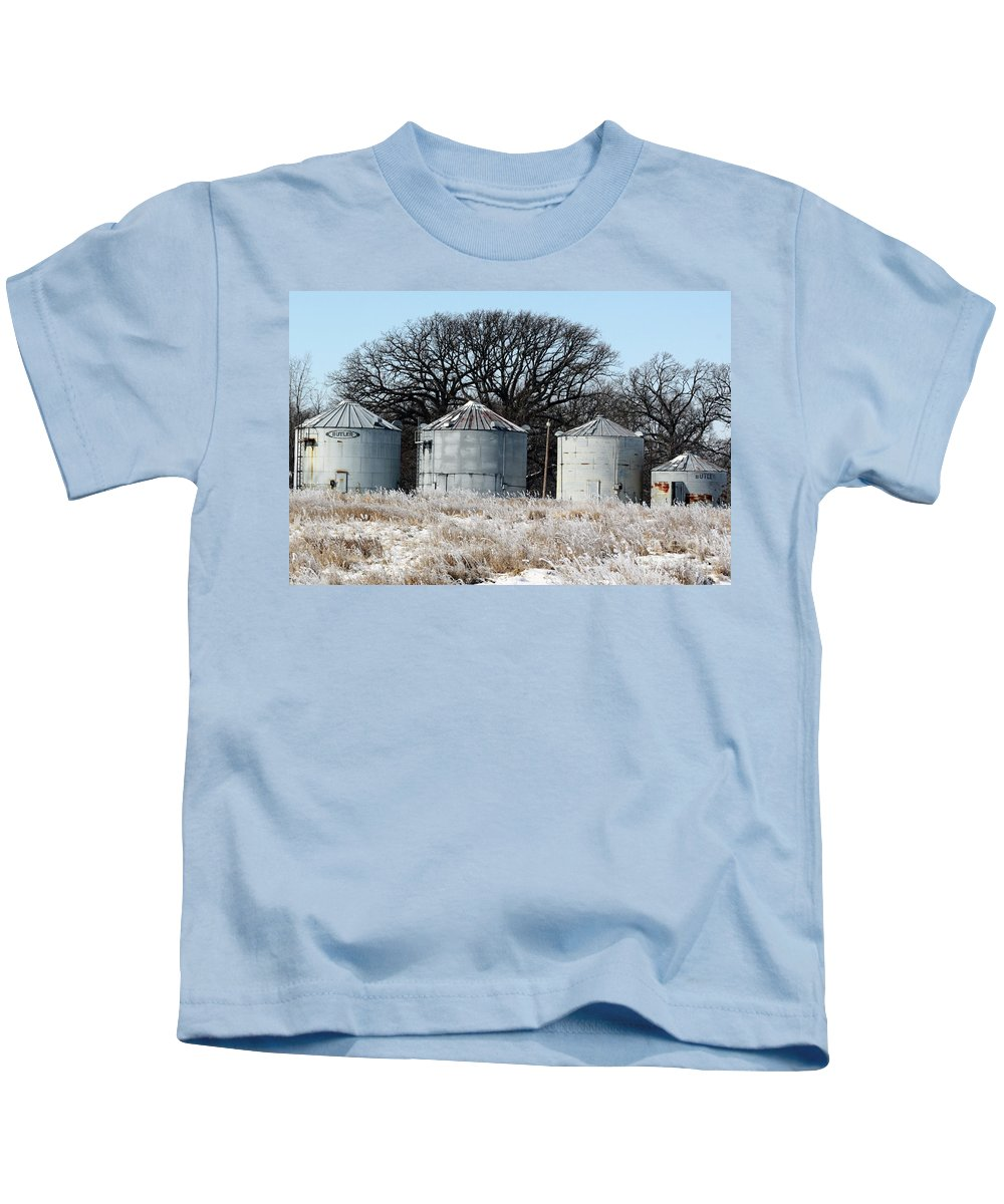 Agriculture Kids T-Shirt featuring the photograph Winter On The Prairie Number 1 by Alan Look