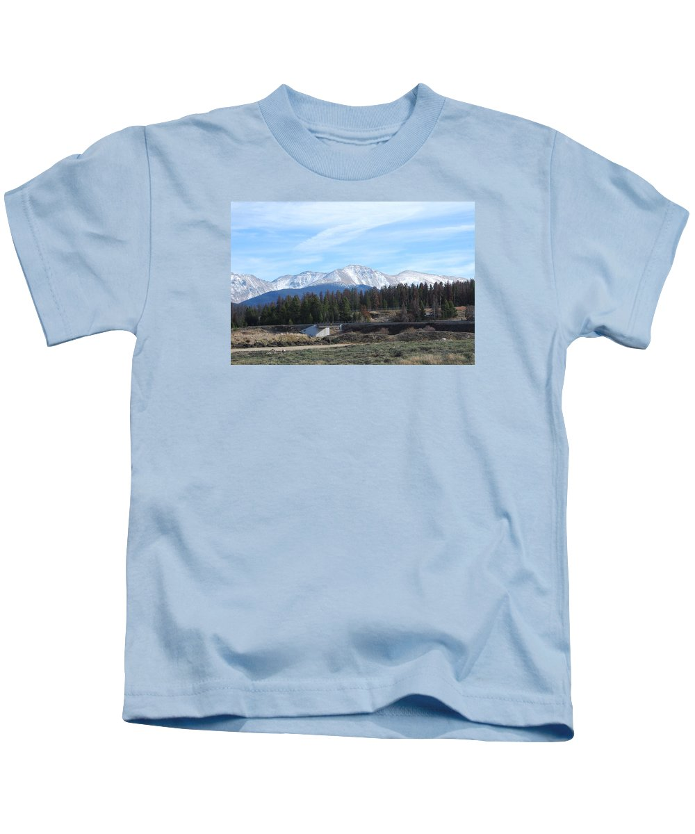 Colorado Kids T-Shirt featuring the photograph Winter Park Colorado by Margaret Fortunato
