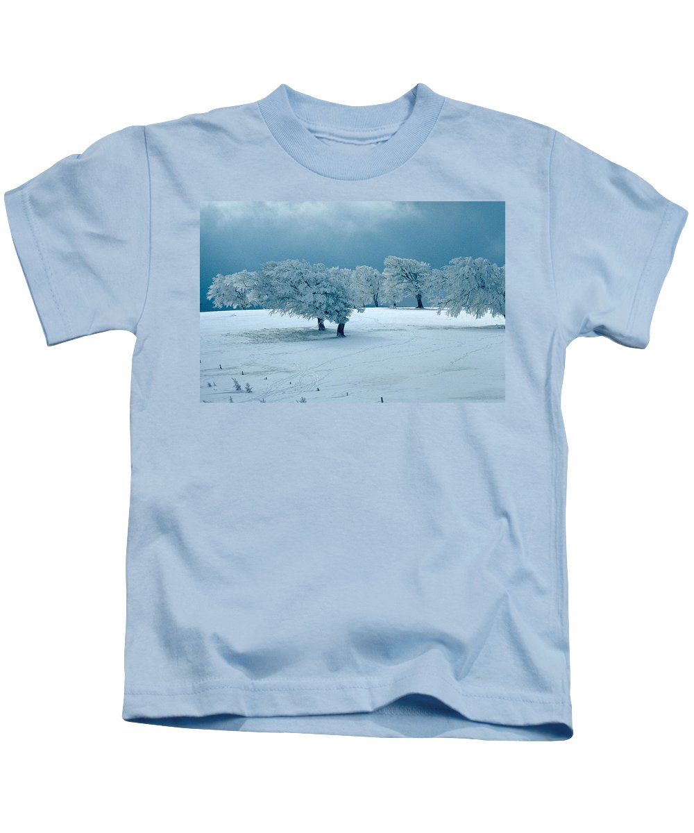 Winter Kids T-Shirt featuring the photograph Winter Wonderland by Flavia Westerwelle