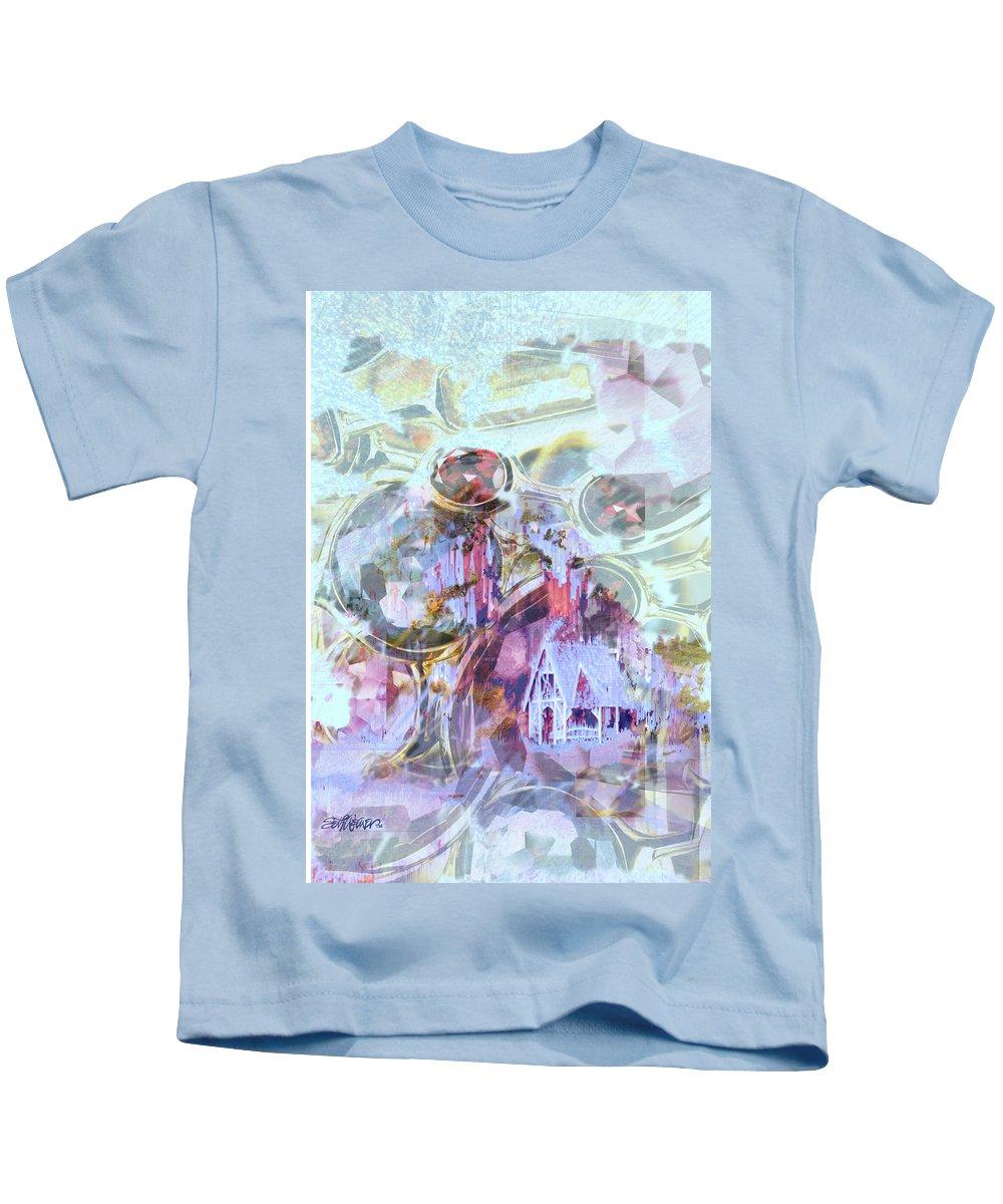 Winter Wind Kids T-Shirt featuring the digital art Winters Blast by Seth Weaver