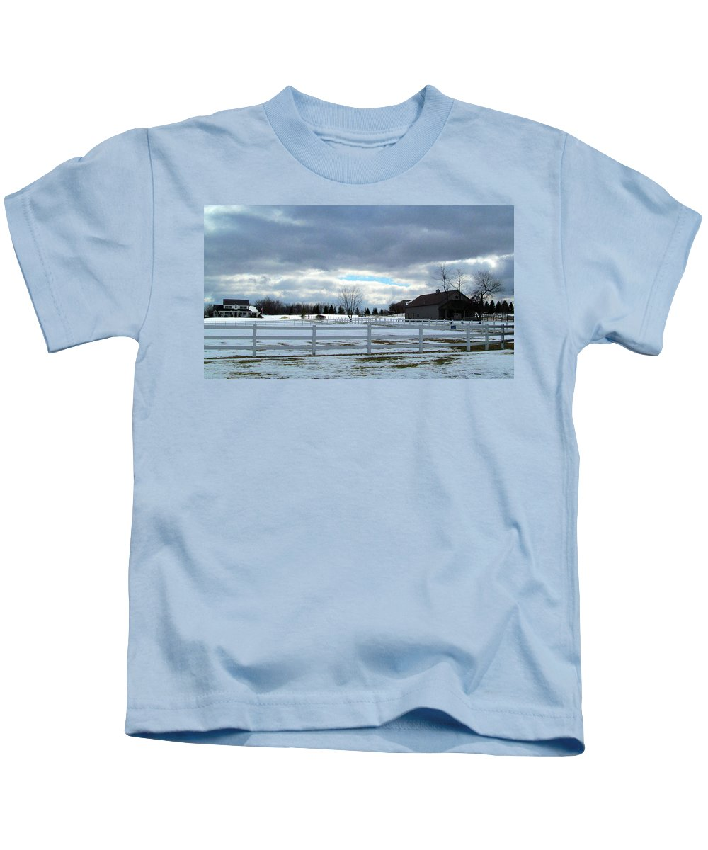 Winter Kids T-Shirt featuring the photograph Wintery Day by Tina M Wenger