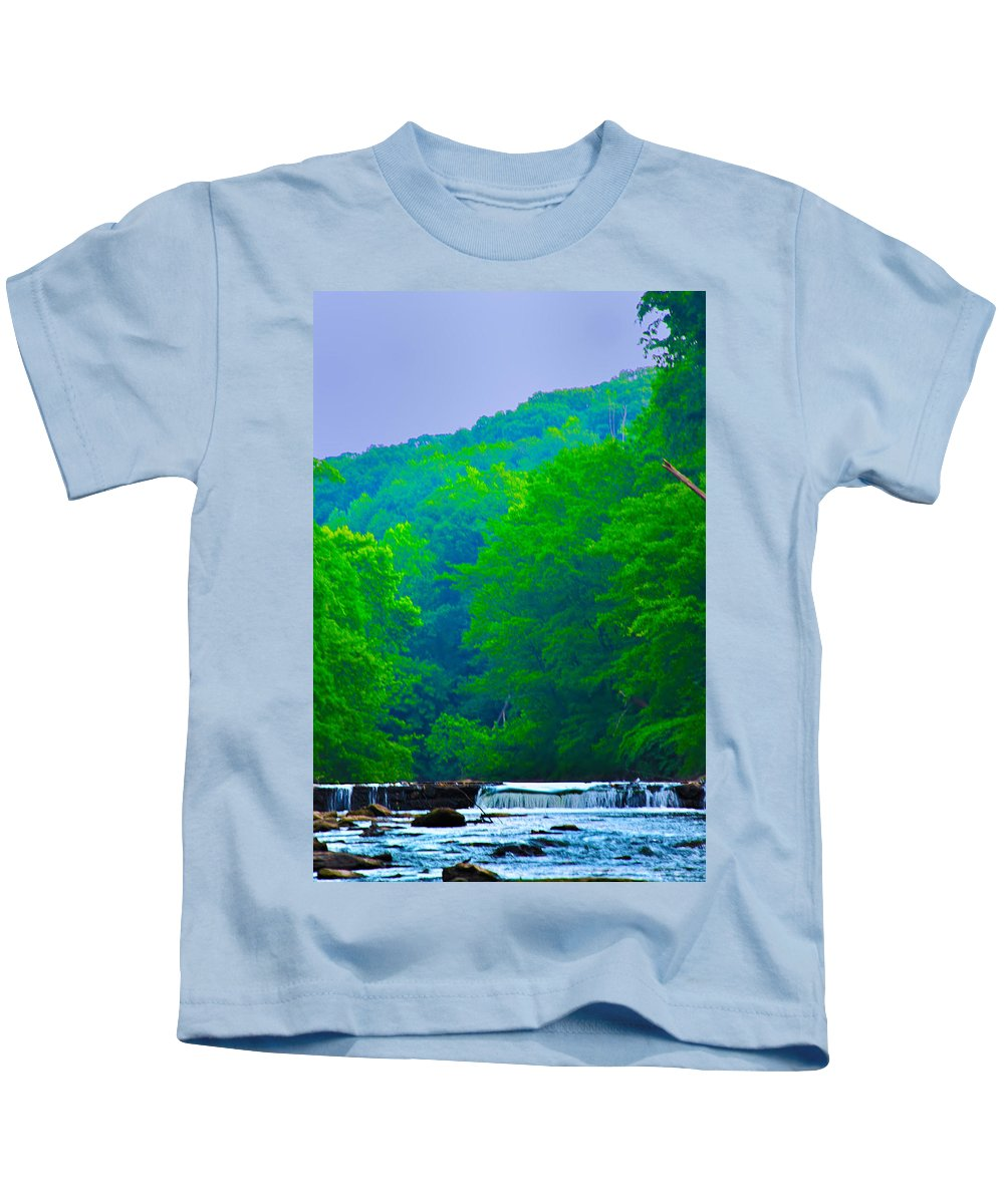 Philadelphia Kids T-Shirt featuring the photograph Wissahickon Creek by Bill Cannon