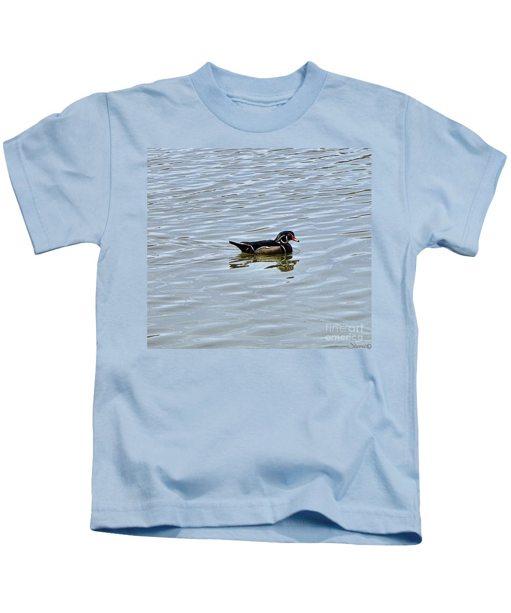 Wood Duck Kids T-Shirt featuring the photograph Wood Duck 2 by September Stone
