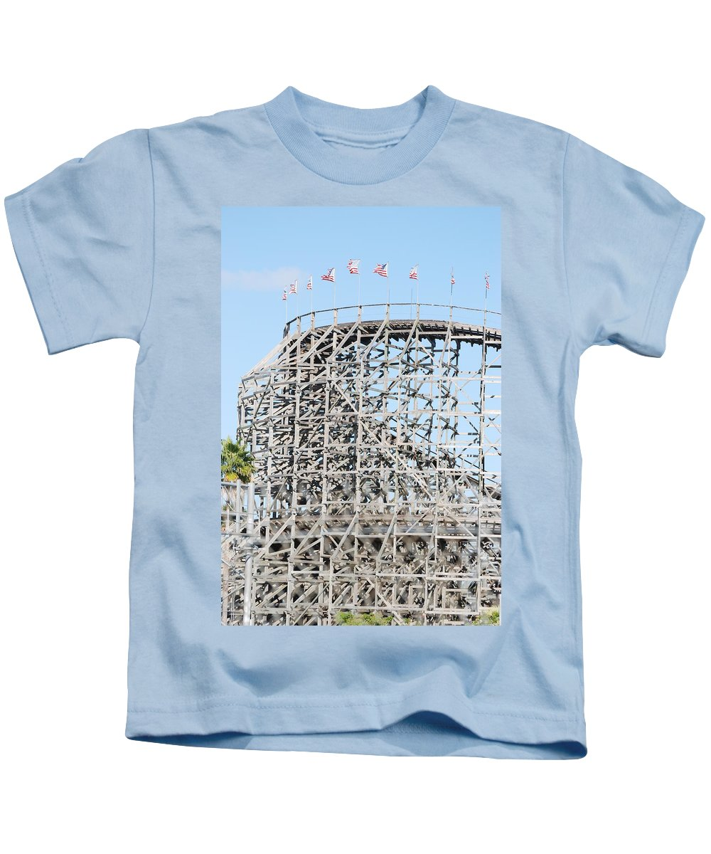 Pop Art Kids T-Shirt featuring the photograph Wooden Coaster by Rob Hans