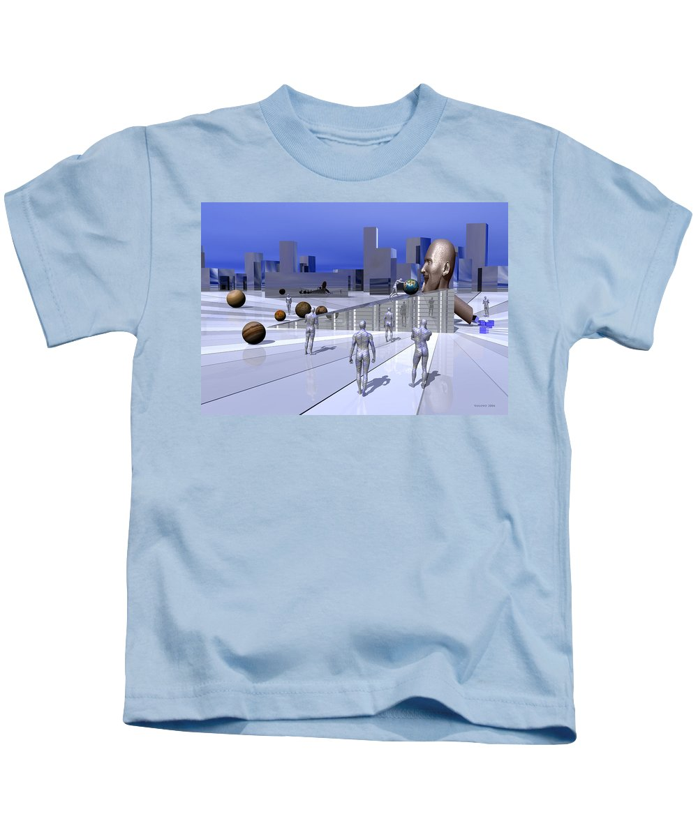 Dali Kids T-Shirt featuring the mixed media World Eater by Nandor Volovo