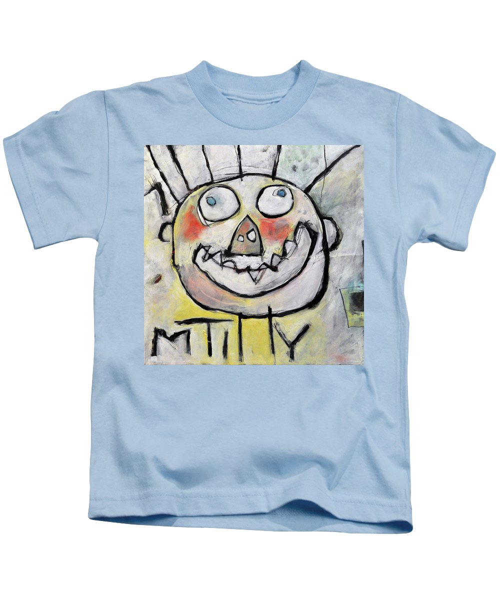 Kids' Drawing Kids T-Shirt featuring the painting Ymmit by Tim Nyberg