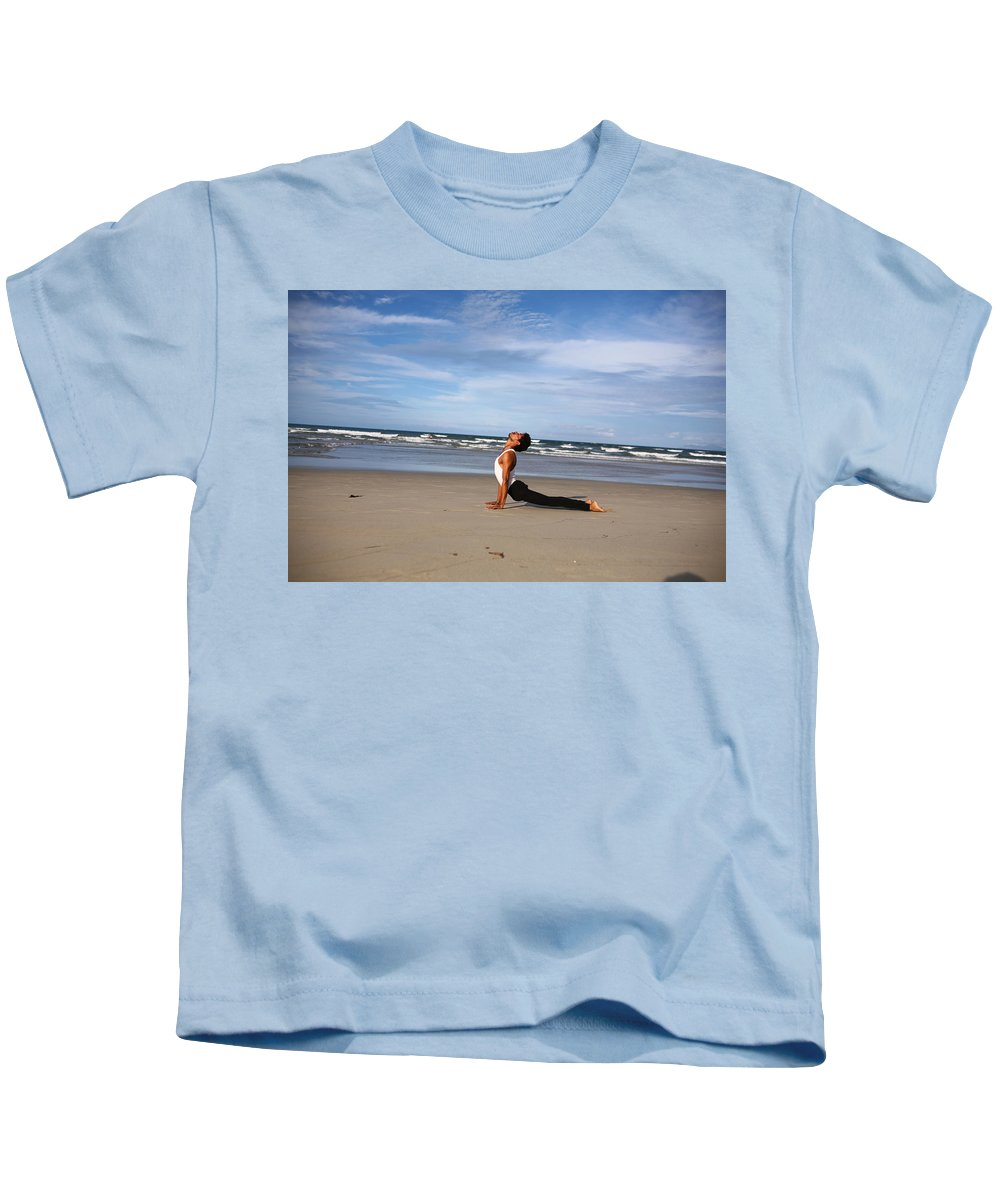 Kids T-Shirt featuring the photograph Yoga by Amit Namdev
