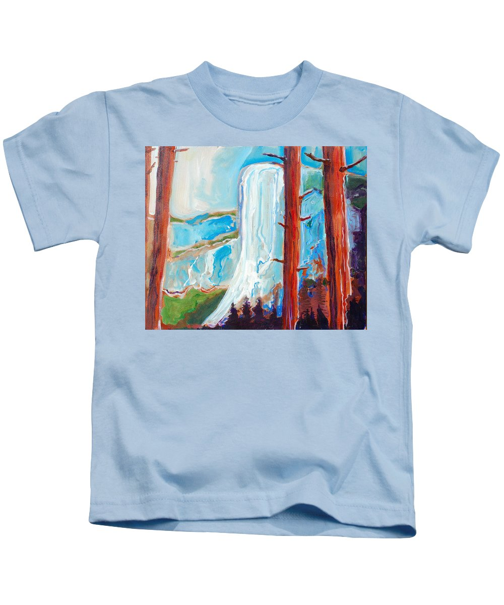 Kids T-Shirt featuring the painting Yosemite by Kurt Hausmann