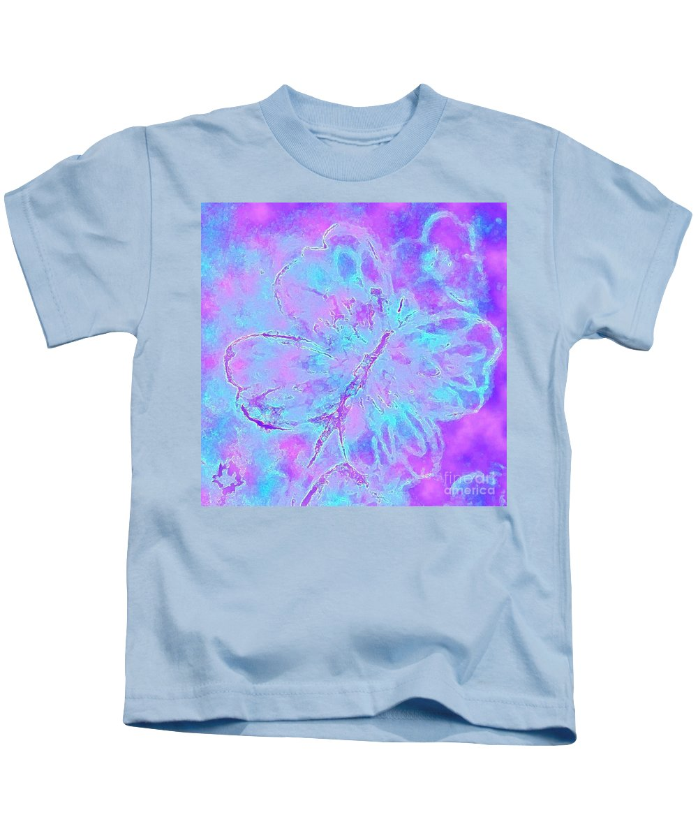 Surreal Butterfly Kids T-Shirt featuring the painting You Light Up My World by Hazel Holland