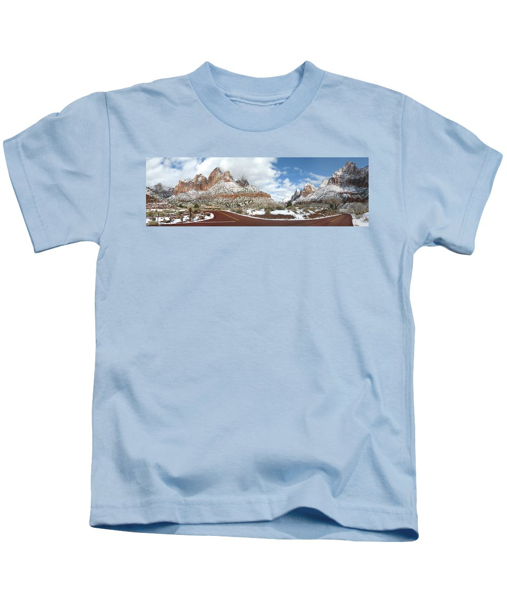 Kids T-Shirt featuring the photograph Crossroads, Zion Valley by Ron Smith