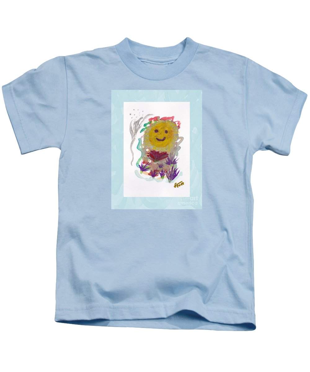 Painting Kids T-Shirt featuring the painting Alegria - Pintoresco Art By Sylvia by Sylvia Pintoresco