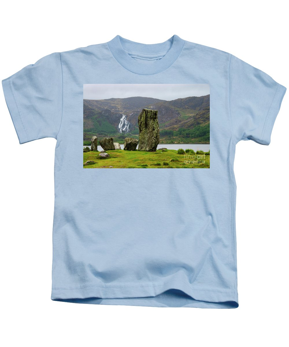 Uragh Stone Circle Kids T-Shirt featuring the photograph Ancient Urgah Stones by Bob Phillips
