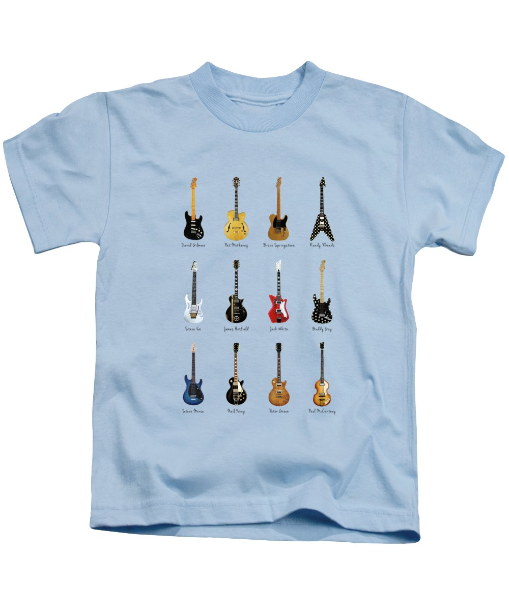 Fender Stratocaster Kids T-Shirt featuring the photograph Guitar Icons No2 by Mark Rogan