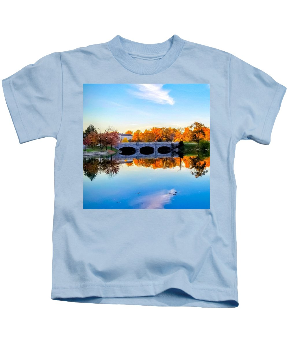 Buffalo Kids T-Shirt featuring the photograph Hoyt Lake by Jennifer Loncz